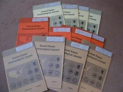 3 Complete Years (12 Issues) Of The Central States Archaeological Journal