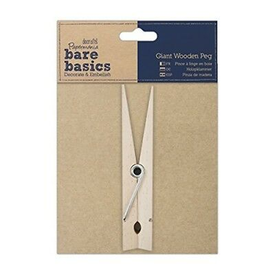Papermania Giant Wooden Peg, Beige By Papermania