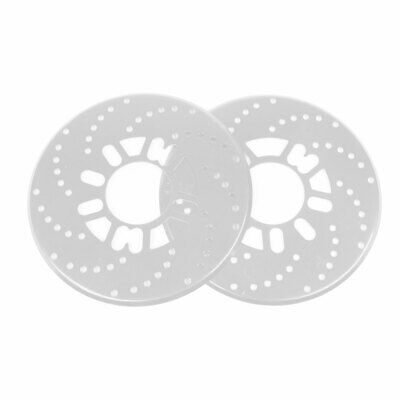 2 Pcs Auto Car Decorative Aluminum Disc Brake Rotor Cover Silver Tone