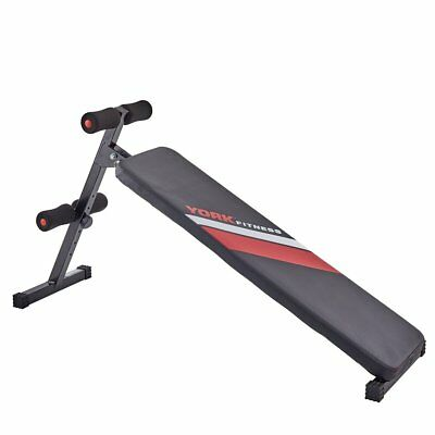 York Fitness Abdominal Workout Sit Up Ab Trainer Stomach Core Exercise Gym Bench