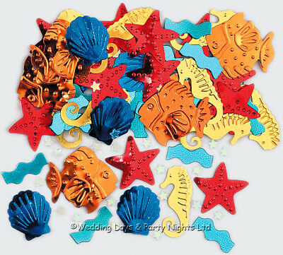 Under The Sea Table Confetti Fish Seahorse Mermaid Hawaiian Party Decorations