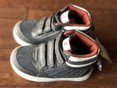 NEW CARTERS TODDLER boy shoes Sneakers Size 8 Slip On Straps ... 08f8707da155