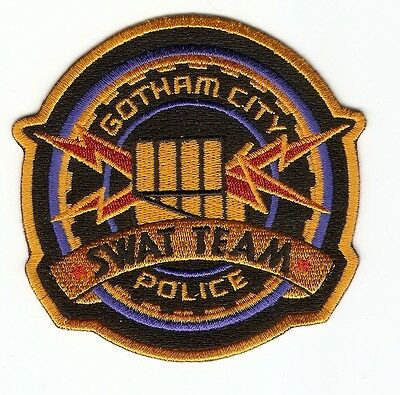 + BATMAN  Aufnäher Patch  GOTHAM CITY POLICE SWAT TEAM