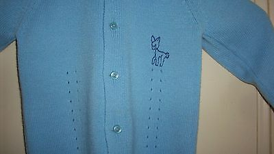 Vintage Baby Toddler Boy's Knit Sweater Cardigan - RENRO Italy 100% Acrylic