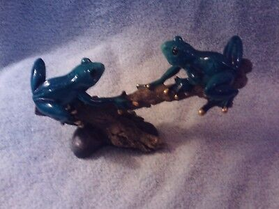 Glass Frog Figurine With Rhinestones #2