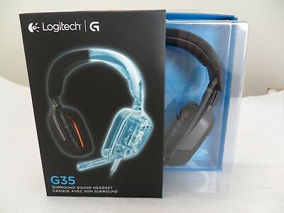 * NEW IN BOX * Logitech G35 Gaming Headset 7.1-Channel Surround Sound for PC