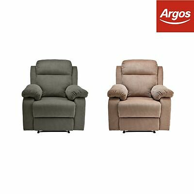 Argos Home New Bradley Manual Recliner Chair - Charcoal / Natural