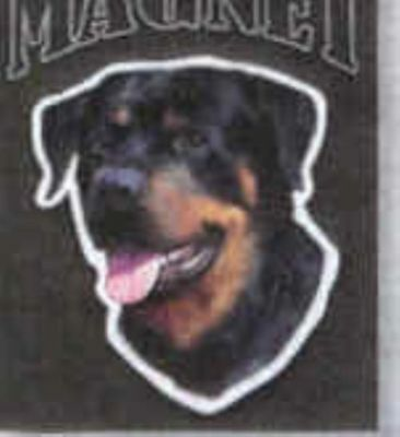 Car Magnet Die-cut ROTTWEILER Dog Breed discontinued CLEARANCE
