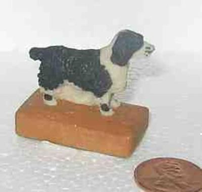 Dog Figurine SPRINGER BLK Mini Figurine by Arista CLEARANCE SALE