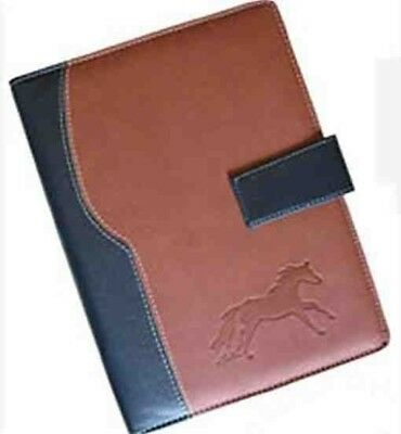 Business GALLOPING HORSE Planner/Datebook 3-ring Binder Faux Leather CLEARANCE