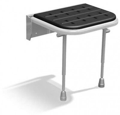 Patterson Medical Wall-Mounted Height Adjustable Shower Seat With Padded Seat