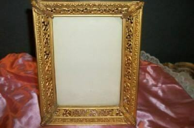 Victorian Antique Filigree Picture Frame Torches 1897 Chic Paris Apt Shabby