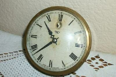 20s ART DECO ERA SMITHS ENGLISH CLOCK WORKS BAKELITE ELECTRIC CONVEX CHIC SHABBY