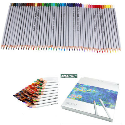 48 Colors Oil Base Marco Art Sketching Painting Drawing Non-toxic Pencils Set