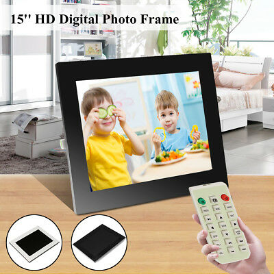 Adjust Color 15'' LED Digital Photo Picture Frame MP3 Music Play Photograph Gift