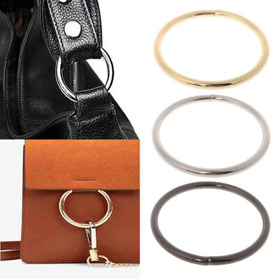 Metal O Ring Shaped Buckle for Bags Backpack Purses Straps Inner Diameter 7.5cm