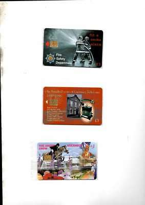 3 Guernsey Telecoms  Phonecards New Mint Sealed