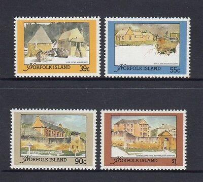 NORFOLK Island 1988 RESTORED BUILDINGS from the CONVICT ERA set of 4 MNH