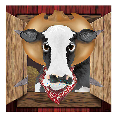 Western Pin The Mustache on the Cow Party Game - Wild West Kids Party Activities