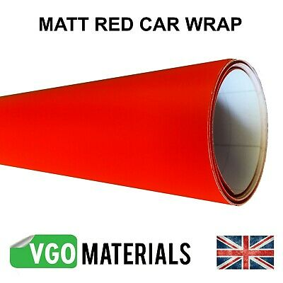 Quality Red Matt Vinyl Car Motorbike Vehicle Wrap Air Release Bubble Free CW3302