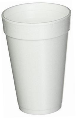Dart 16 Oz. White Disposable Drink Foam Cups Hot and Cold Coffee Cup 40pk