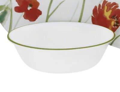 "1 NEW Corelle KALYPSO 18-oz Soup CEREAL SALAD BOWL 6 1/4"" Khaki GREEN RIM Band"