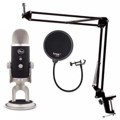 Blue Microphones Yeti Pro USB Microphone with Knox Boom Arm and Pop Filter