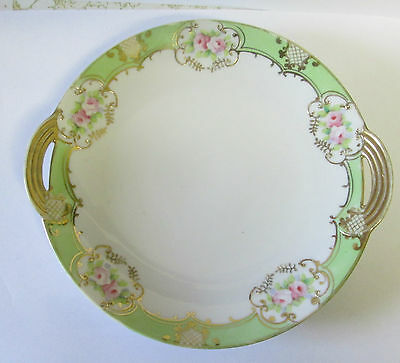 Vintage Hand Painted Nippon China Two-Handled Serving Bowl/plate/dish
