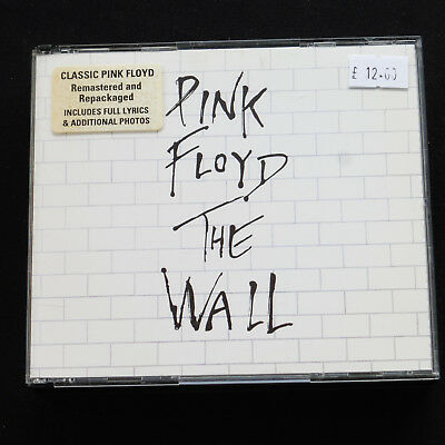 Pink Floyd The Wall Remaster CD 1994 FAT BOX Sticker Front NMint Discs