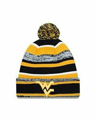 133db87491a WVU Mountaineers NWT Pom Knit NCAA Winter Hat New Era West Virginia Hail WV