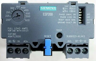 New 48ATL3S00 Siemens ESP200 Solid State Overload Relay 200-600 Amp