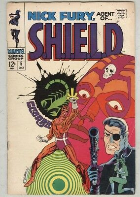 Nick Fury, Agent of SHIELD #5 G/VG October 1968 classic cover