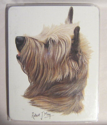 Retired Dog Breed CAIRN TERRIER Vinyl Softcover Address Book by Robert May