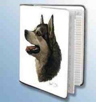 Retired Dog Breed ALASKAN MALAMUTE Vinyl Softcover Address Book by Robert May