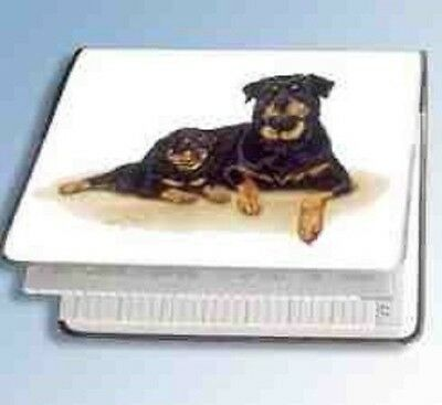 Retired Dog Breed ROTTWEILER FAMILY Vinyl Softcover Address Book by Robert May