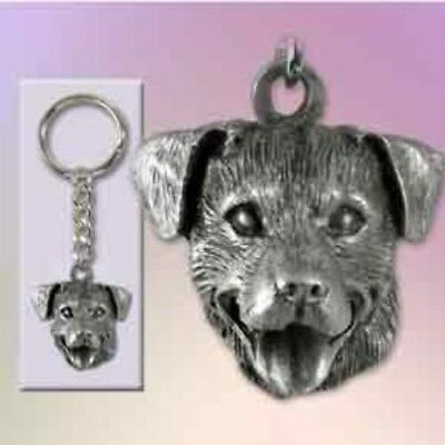 Pewter Dog Breed ROTTWEILER Keychain Retired CLEARANCE PRICED