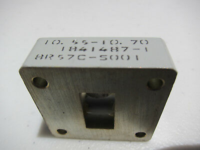 One Waveguide WR75 Isolator 10.55 - 10.70 GHz  3cm Band X-Band