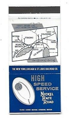 Vintage Matchbook Cover NICKEL PLATE ROAD RAILROAD High Speed Service #337