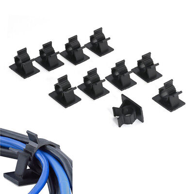 10Pcs Cable Clips Adhesive Cord Management Wire Holder Storage Organizer Clamp