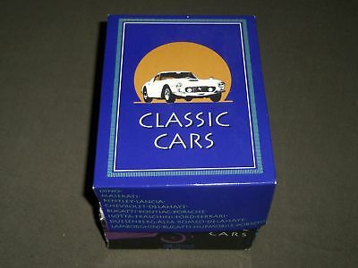 Classic Cars Atlas Card Set In Box - Racing & Luxury Cars - Nice Photos - R 163D