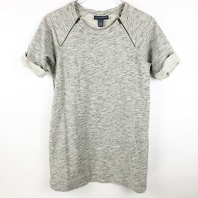 A Pea In The Pod Maternity Tunic Sweatshirt Top Size Small S Heathered Gray