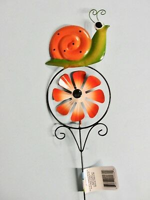 """DRAGONFLY FLOWER SPINNER STAKE 22.5/"""" METAL NEW WT HOME GARDEN POOL YARD PATIO"""