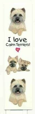 Nice Dog Breed CAIRN TERRIER Pet Laminated Paper Bookmark set of 2