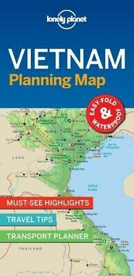 NEW Vietnam Planning Map By Lonely Planet Travel Guide Folded Sheet Map