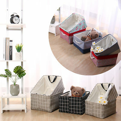 Collapsible Storage Basket Bin Fabric Toy Organizer Box Container for Shelves