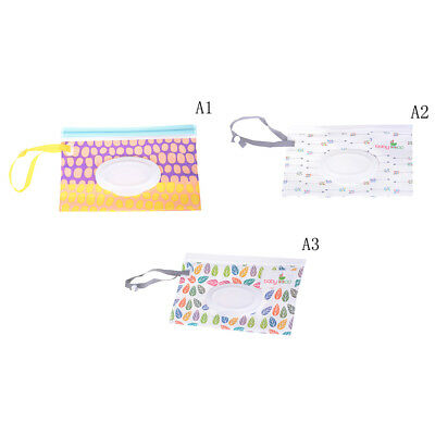 Clean Carrying Case Wet Wipes Bag Cosmetic Pouch Wipes Container Optional BDAU
