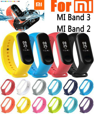 For Xiaomi Mi Band 3/2 Adjustable Bangle Soft Silicone Strap Wristband Bracelet