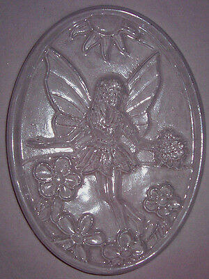 Large Oval With A Fairy And Flowers Chocolate Mould Or Plaster Mould
