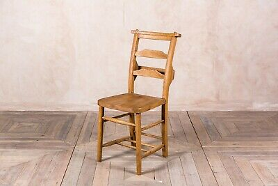 Solid Oak Dining Chairs Antique Style Chapel Church Chairs With Bar Back Design