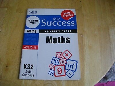 LETTS KS2 SUCCESS MATHS 10 MINUTE TESTS SATs YEAR 6 AGE 10-11 QUESTIONS ANSWERS